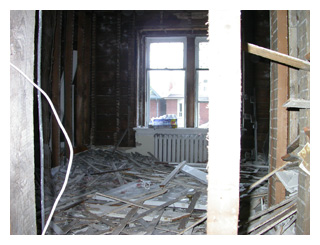 plaster and dryawall were removed